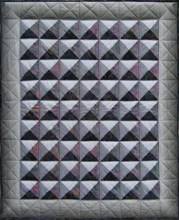 sieninis skiautinis su optinės iliuzijos elementais